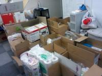 たくさんの支援物資が集まりました!