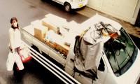 友人の軽トラックで支援物資を届けるところ